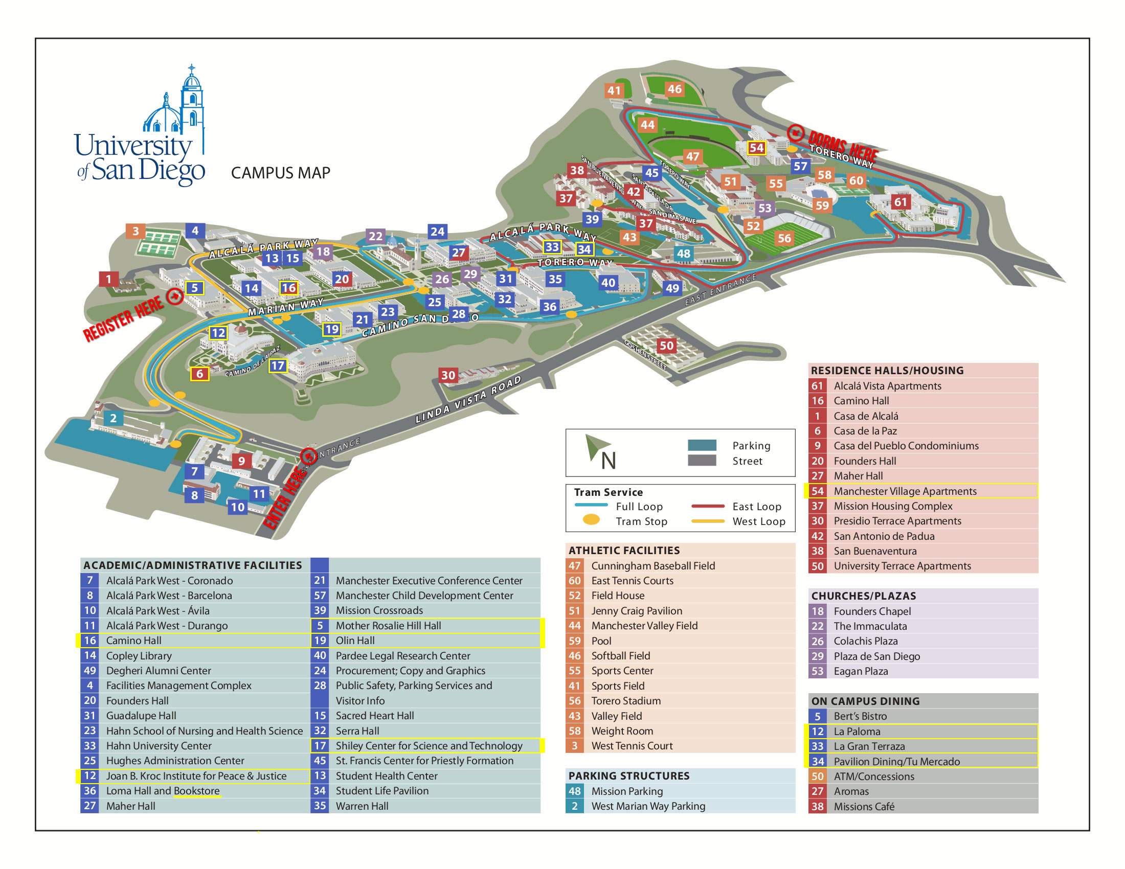 Usd Campus Map   CYNDIIMENNA